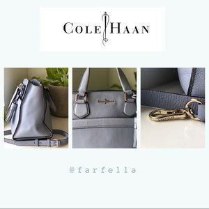 Posh and sleek Cole Haan light purple handbag